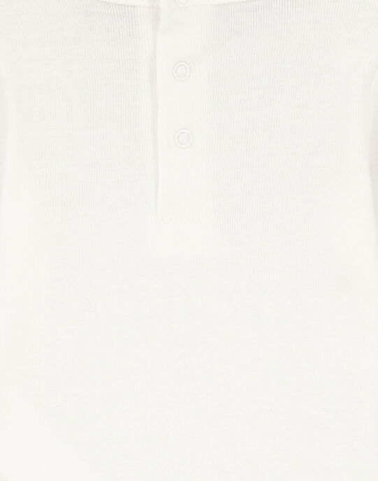 Body écru en rib layette fille GEFIBODY / 19WH13N6BDL001