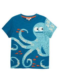 Tee Shirt Manches Courtes Bleu JOBOTI4 / 20S902H2TMCC219