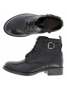 Boots en cuir fille DFBOOTISSA / 18WK35T9D0D090