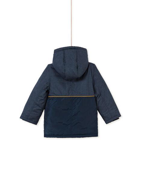 Parka bi-matière bleue enfant garçon KOGROPAR3 / 20W902J3PARP267