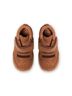 Baskets camel en suède bébé garçon MUBASIMA / 21XK3871D3F804