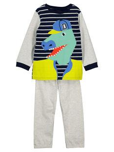 Pyjama fantaisie en molleton garçon FEGOPYJTYR / 19SH1299PYJ000