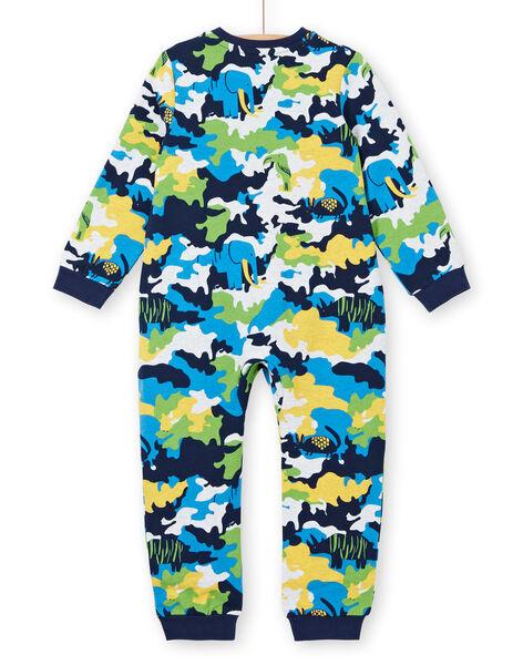 Supyjama enfant garçon en molleton gratté imprimé camouflage LEGOCOMBI / 21SH1211D4FJ920