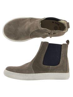 Boots en cuir garçon DGBOOTLIP / 18WK36T7D0D803