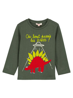 Tee-shirt à manches longues fantaisie garçon GOJAUTEE3 / 19W902H4TML609