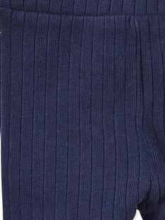 Legging côtelé bleu marine bébé fille KYIJOLEGCO2 / 20WI0955D26070
