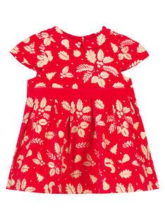 Robe imprimée à paillette layette fille GINOROB2 / 19WG09V2ROBF521