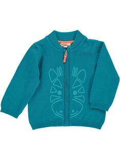 Gilet Turquoise CUJOGIL6A / 18SG10R8GILC217