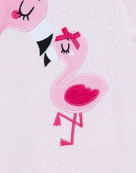 Grenouillère bébé fille en velours rose JEFIGREFLAM / 20SH13C2GRED310